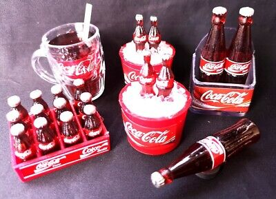 12 Bottles Cola Soda Crate Beverage Dollhouse Miniature Collection Fridge Magnet