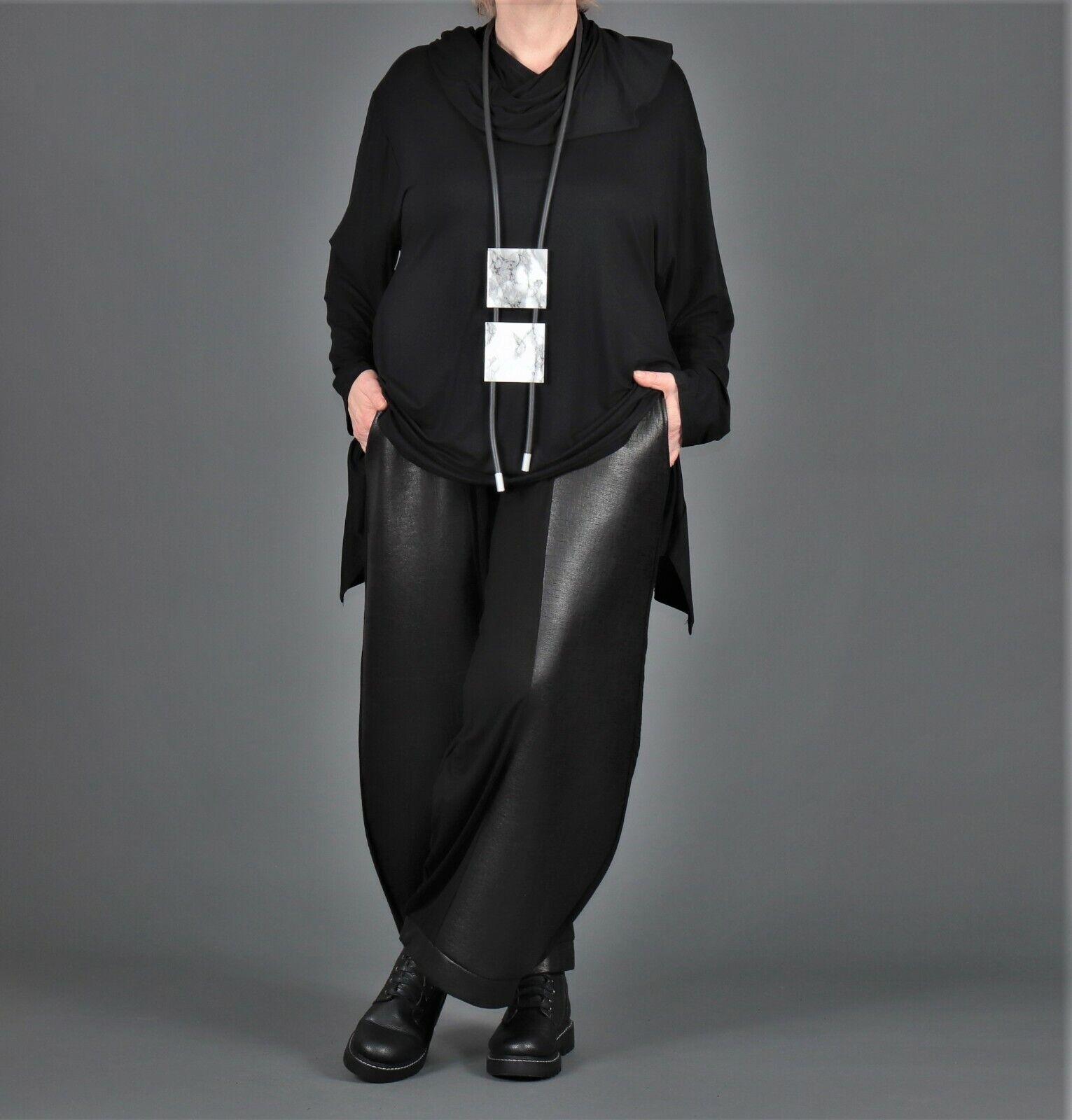 ♦ AKH Fashion Ballon-Hose EG 42,44,46,48,50,52 schwarz, Kunstleder ♦