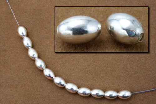 5mm x 8mm Sterling Silver Oval Bead #BSC083