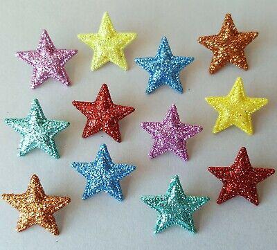 Glitter Stars Christmas Dress It Up Buttons Starlight Starbright 8372