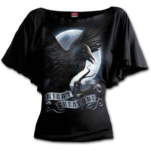 Spiral-Direct-Night-Creature-Rabe-Top-Shirt-L-XL-XXL-Gothic-Neu