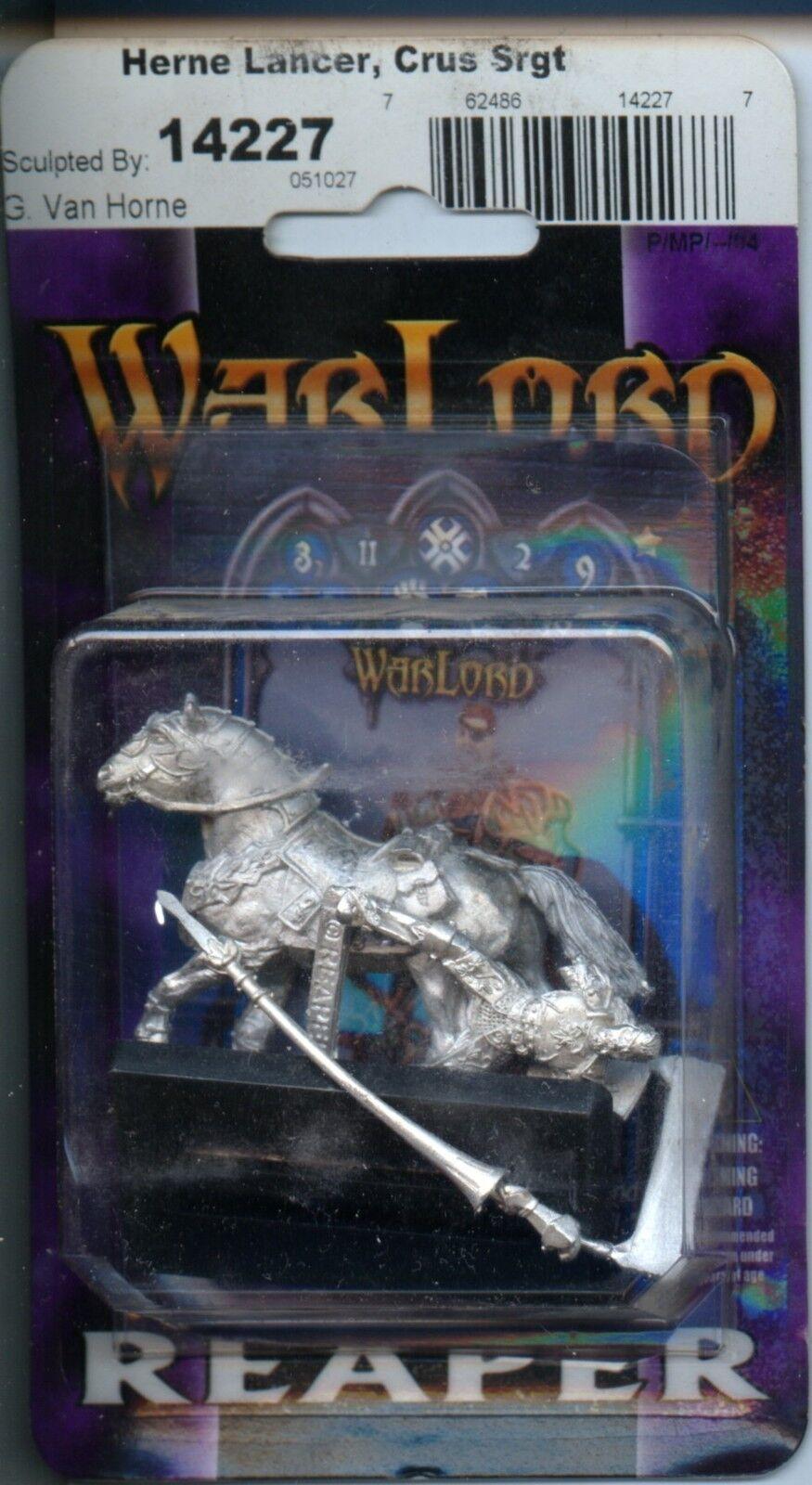 Reaper Warlord Herne Lancer, Crusader Ssilver MINT Metal