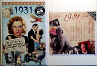 1931 86th Birthday Gifts Set - 1931 DVD , Pop CD and Card - CD Card Company
