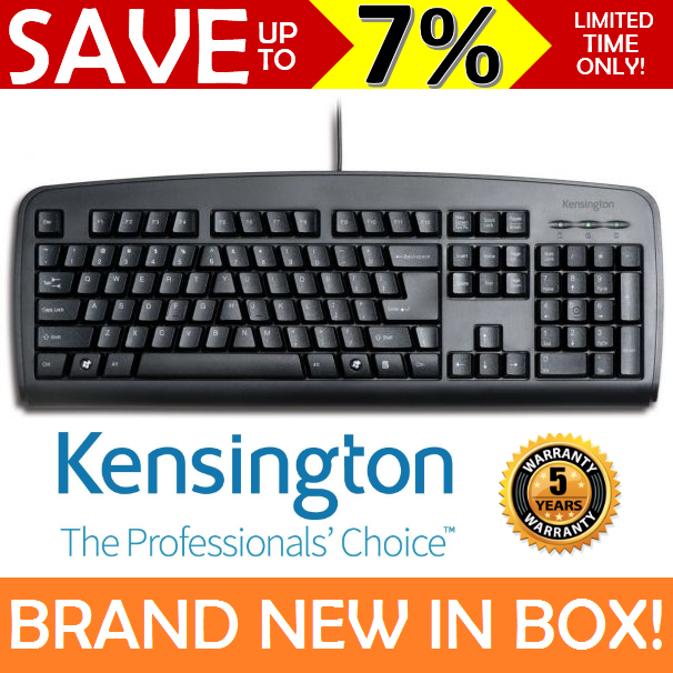 NEW IN BOX KENSINGTON WIRED Keyboard Comfort Type Ergonomic 5 Year Warranty AUS