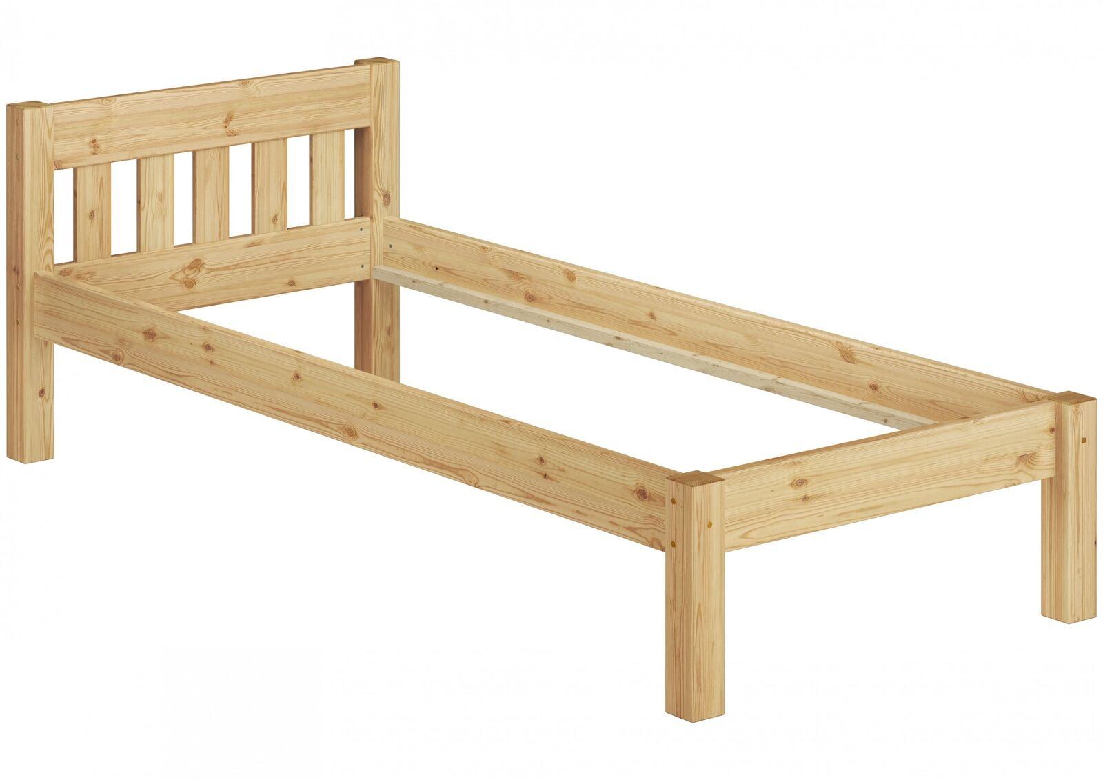 Prolétaire holzbett futon pin massif 100x200 sans sommier à lattes 60.38-10 or