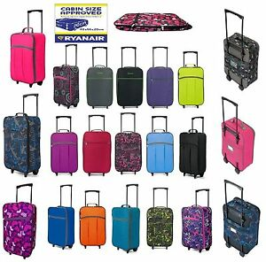 New-Wheeled-Cabin-Hand-Luggage-Bag-Small-Case-Ladies-Girls-Foldable-Travel