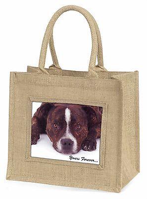 Staff Bull Terrier dir für immer große natürliche Jute-Einkaufstasche c,