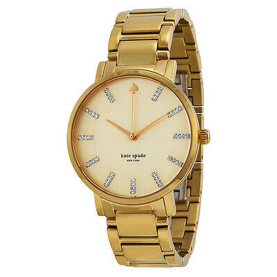 Kate Spade Gramercy Grand Champagne Dial Gold-plated Ladies Watch 1YRU0096