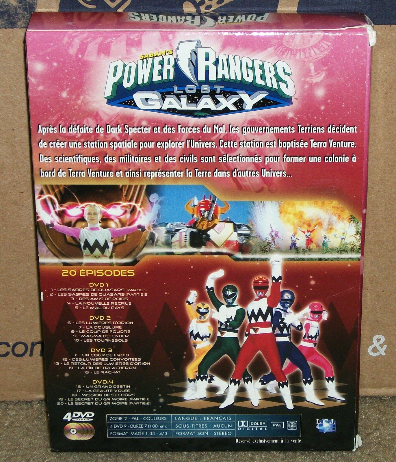 Power Rangers Lost Galaxy Season 1 (dvd Boxset) PAL French Audio Coffret |  eBay