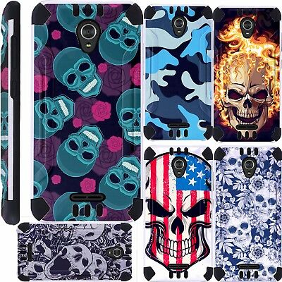 new products 3ad34 62e0a For ZTE ZMax One LTE Z719DL Phone Case Brush Hybrid Cover KombatGuard D4 |  eBay