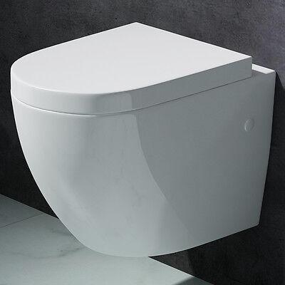 Edle Design-Toilette Hänge-WC mit Silent-Close-Sitz | Markenartikel A376