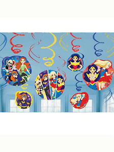 Image Is Loading 12 DC Superhero Girl Batgirl Supergirl Birthday Party