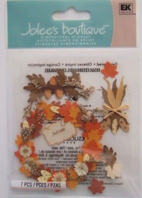 ~AUTUMN~ Jolee's Boutique Dimensional Stickers; Fall Leaves Wreath