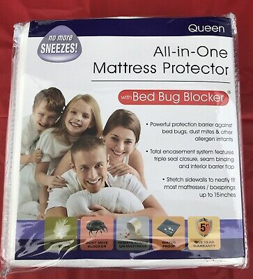 All In One Mattress Protector Bed Bug Blocker Zippered