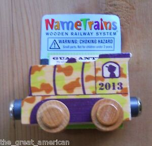 Name Train 2013 Camo Engine - Thomas Compatible Wooden Wood Toys Toy Made in USA