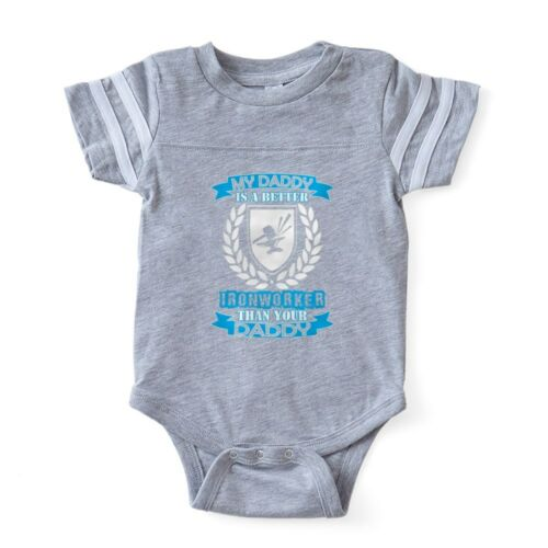CafePress My Daddy Better Ironworker Baby Football Bodysuit 324156173