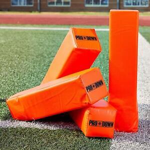 Regulation Size Orange PVC inflatable NFL End Zone Football Pylon Set of 4