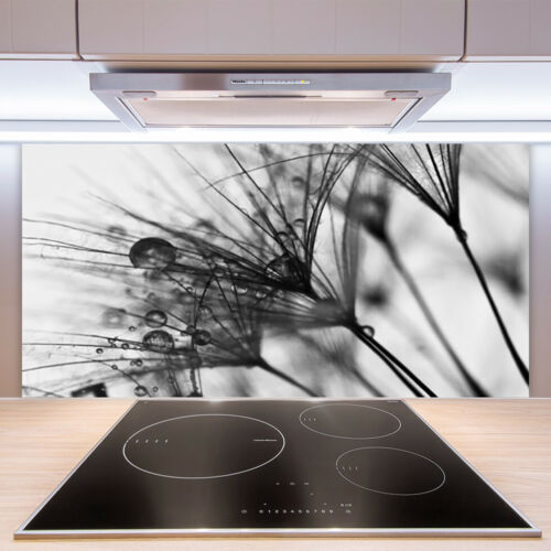 Küchenrückwand aus Glas 100x50cm ESG Spritzschutz Abstraktes Pflanzen
