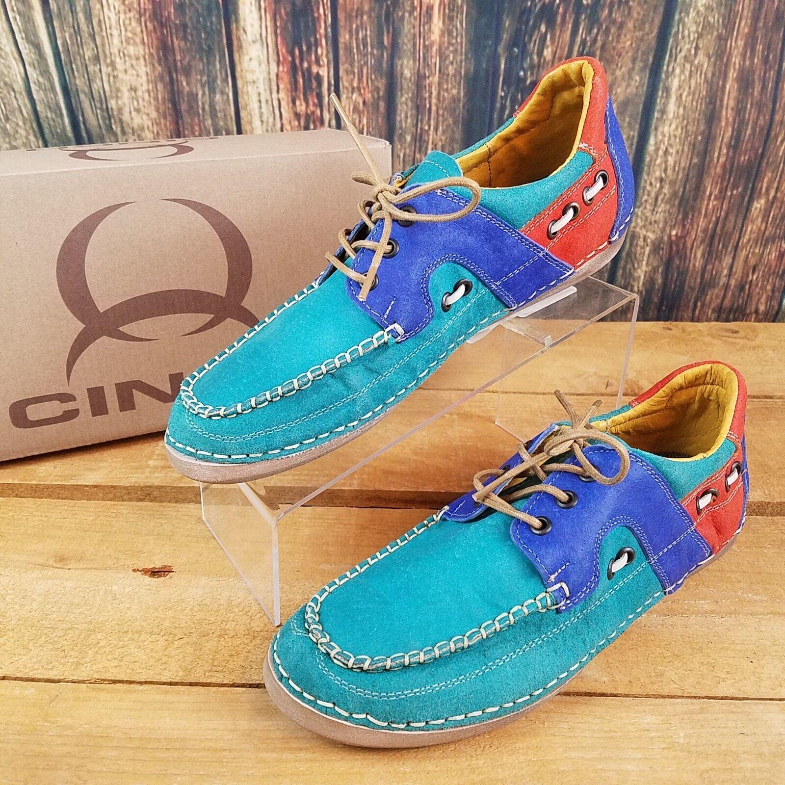 Cinch CCW3017 pour femme MultiCouleure Turquoise Chaussures Bateau Taille 6.5
