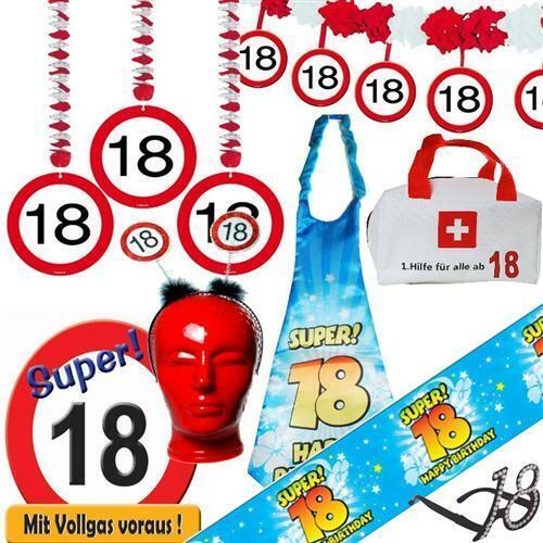 Geburtstag Verkehrsschild Deko Geburtstagsdeko Partyzubehör TOP Alles zum 18