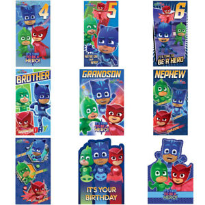 Image Is Loading PJ Masks Birthday Cards Assorted