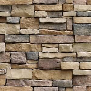 45x100cm-Self-Adhesive-Wall-paper-PVC-Waterproof-Stone-Brick-Wall-Stickers-L