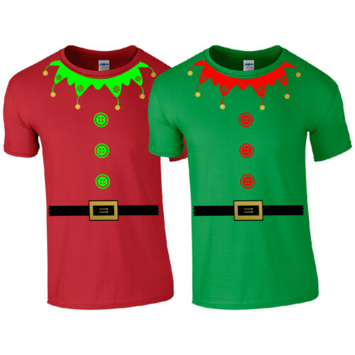Cute Santa/'s Little Helper Funny Gift Kids Mens Top Christmas Elf Suit T-Shirt