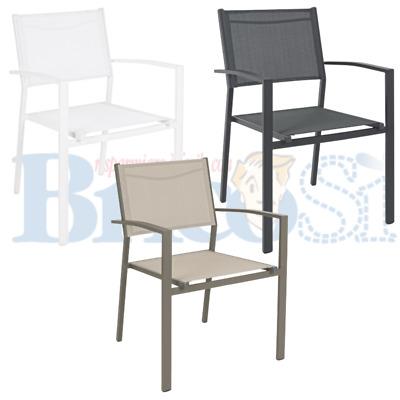 Sedia da giardino in alluminio IMPILABILE CHIAVARI antracite