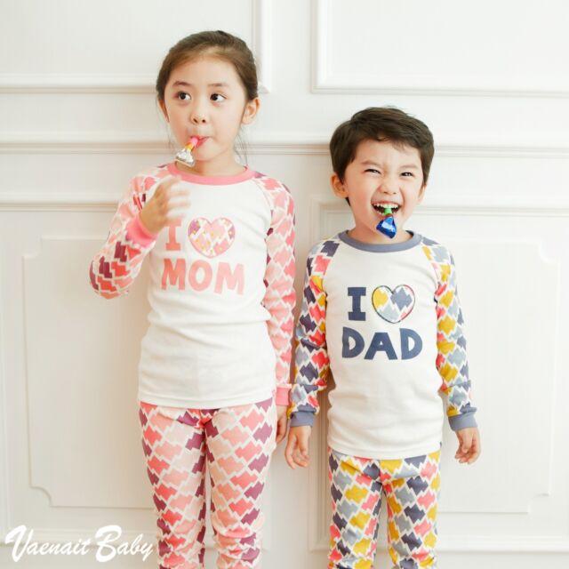 "2Pcs Vaenait Baby Infant Toddler Kid Boys Clothes Sleepwear Pajama ""Cute Family"""