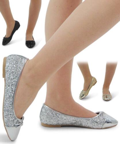 Bottes Femme Plates Escarpins Filles Paillettes Ballerine Dolly Bridal Escarpins Chaussures