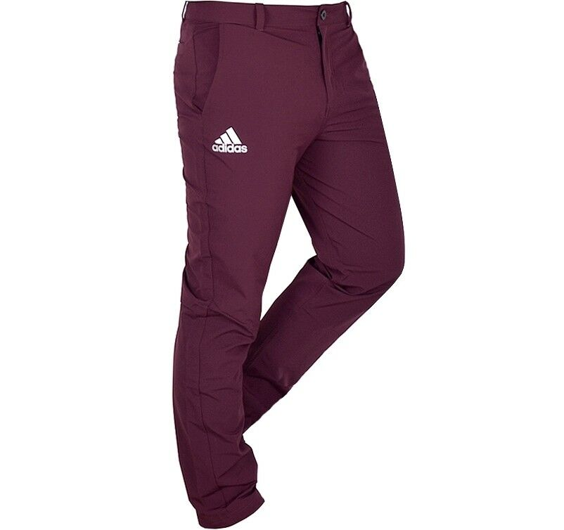 Adidas Herren Athletic Softshell Hose Chino Pants Wanderhose WASSERDICHT weinrot