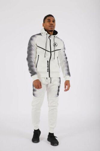 Survêtement Homme Blanc bandes noir amg mercedes 2021 nouveauté E174-4