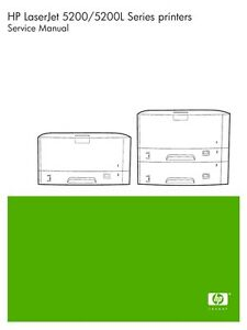 hp laserjet 5200 5200l series service manual parts diagrams ebay rh ebay com hp laserjet 5200tn manual hp laserjet 5200dtn user manual