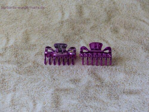 4 Haarkrebs Haarspange Haarklammer Metallic Look versch Farben Neu