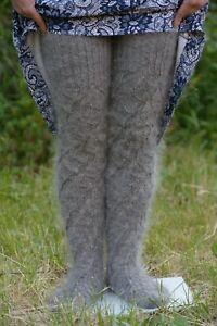 a mano calzini alti Gambali fatti scaldamuscoli pelle scamosciata in Nuovi wtpRv