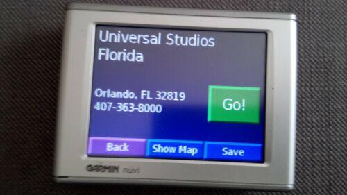 UU /& América del Norte mapas GPS SAT NAV Florida Orlando Garmin Nuvi Pantalla Ancha EE