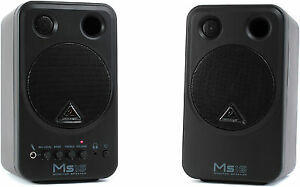 Like-N-E-W-Behringer-MS16-Active-Monitor-pair-Auth-Dealer-Open-Box-Never-Used