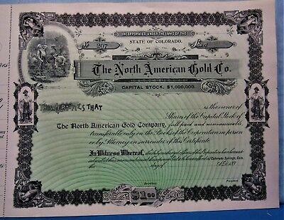 Carmer Mining Company Stock Certificate Aspen Colorado