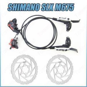 Shimano-SLX-M675-Brake-Set-Hydraulic-Disc-Brake-Cooling-Fins-RT56-Rotors