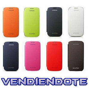 Funda-Flip-Cover-Tapa-Libro-Para-Samsung-Galaxy-S3-SIII-S-3-i9300-Varios-Colores