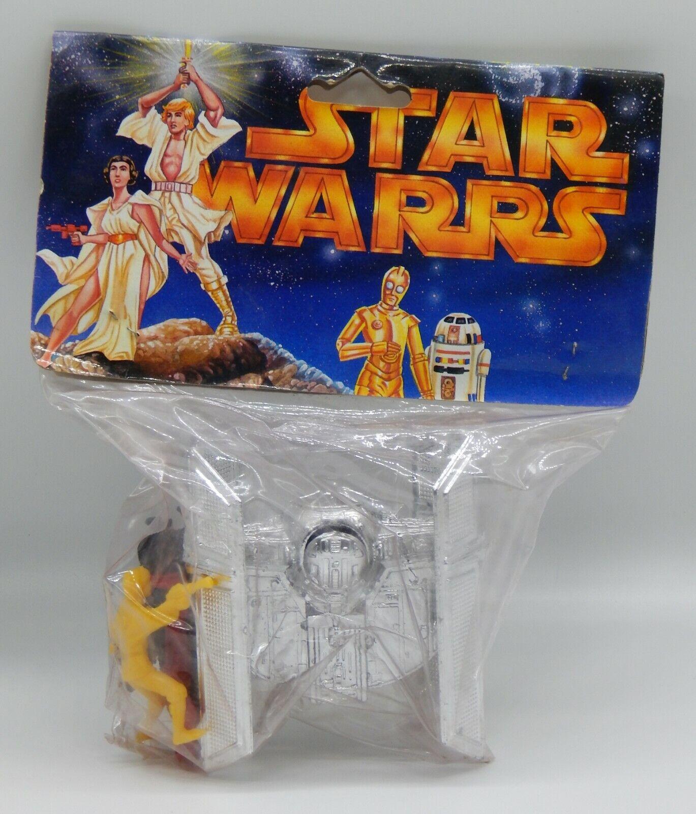 Década de 1990 Estrella Wars Vintage Tie Fighter & Figuras de Plástico México Raro botaleg Menta en paquete