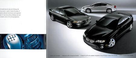 2004 PONTIAC GTO GXP BONNEVILLE SALES BROCHURE BOOK