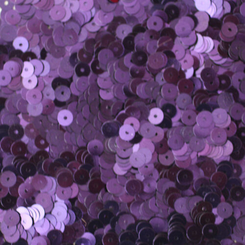 5mm Flat SEQUIN PAILLETTES ~ Deep PURPLE Metallic ~ Round Disc ~ Made in USA.