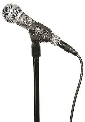 New Genuine Micfx Branded Microphone Sleeve Cover Skin - Silver Sequin Sensation