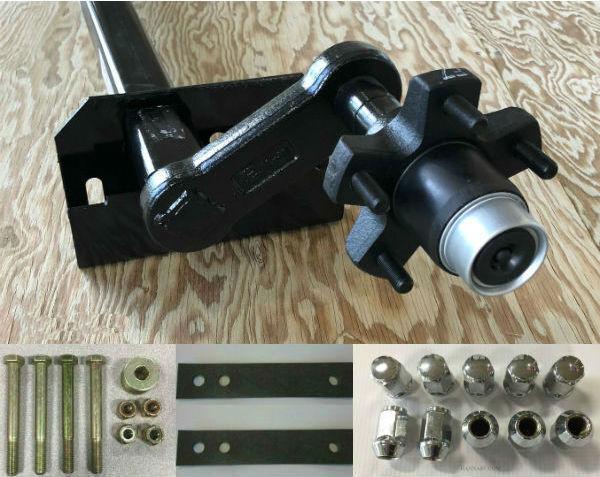 Triton 02360 2200 Lb Snowmobile Trailer Torsion Axle w  Hardware, Gaskets, Nuts