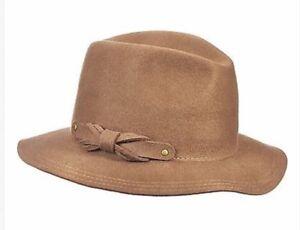 e10f4ea737e John Callanan UNISEX BROWN WOOL FEDORA HAT Raw Edge WOOL Hat Camel ...
