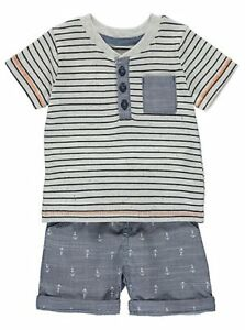 Bnwt Baby Bots 0-3 Minths Grey Multi Outfit Boys' Clothing (newborn-5t) Outfits & Sets