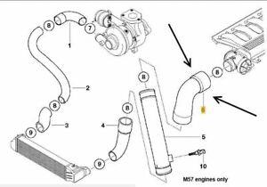 BMW E46 330d M57 engines EGR to Intercooler Pressure Hose FEBI, 11617799389  | eBayeBay