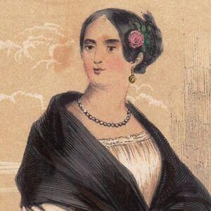 Gravure-XIXe-Manola-Femme-Espagne-Costume-Espana-1848