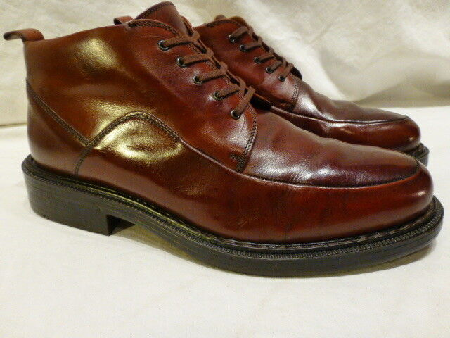 Johnston Murphy Passport Brown Leather Lace Up Ankle Chukka Dress Mens Boots 8M
